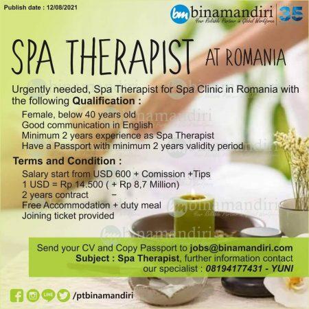 Romania - SPA Therapist